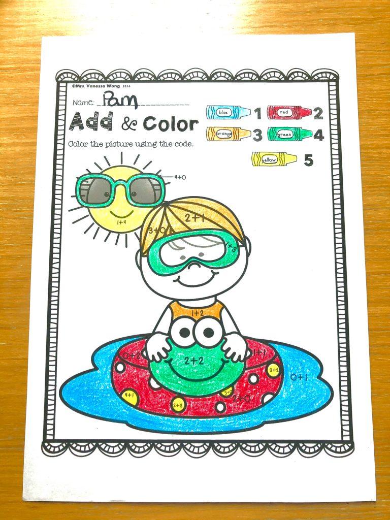 summer kindergarten math literacy no prep