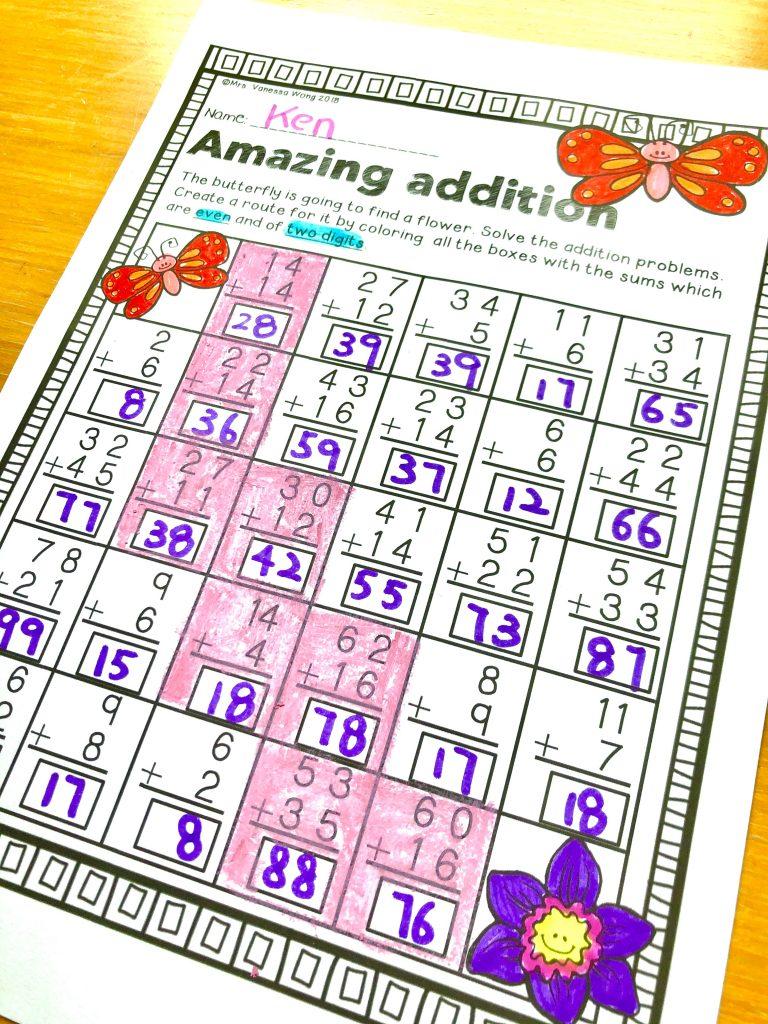 spring first grade worksheet