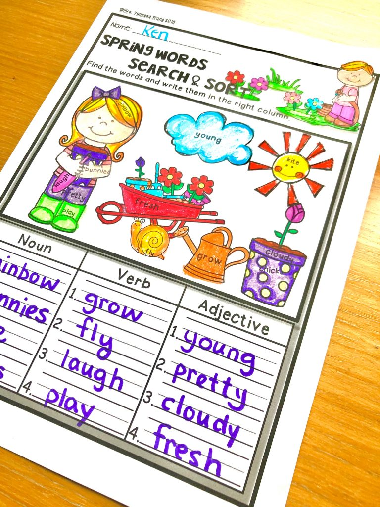 first grade math and literacy worksheets