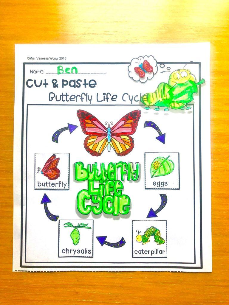 Spring first grade math and literacy worksheet