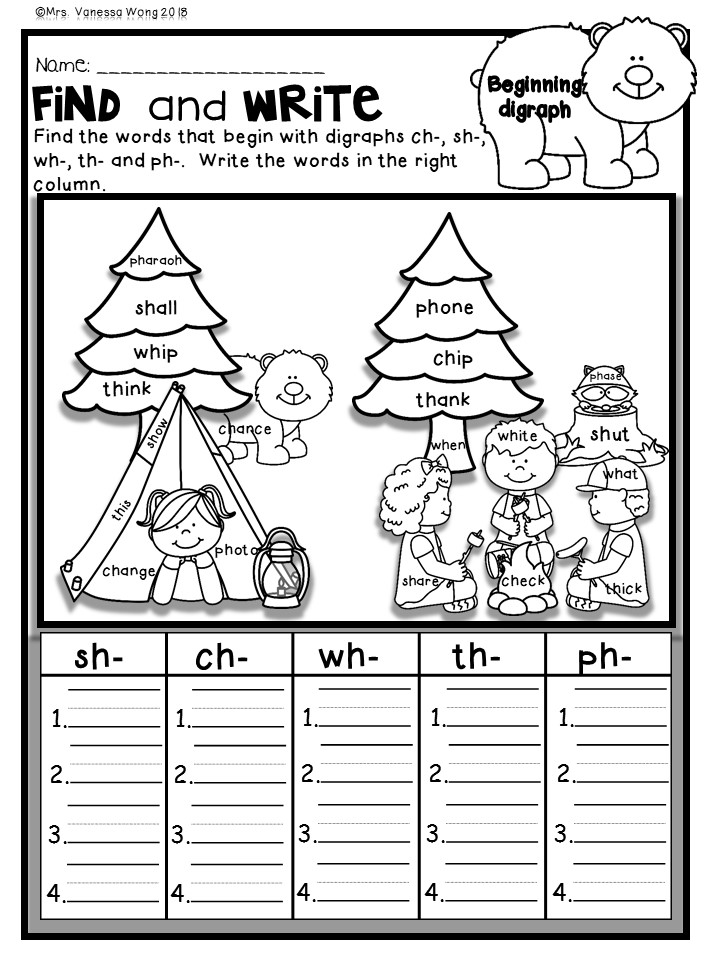 Summer review first grade math and literacy worksheets
