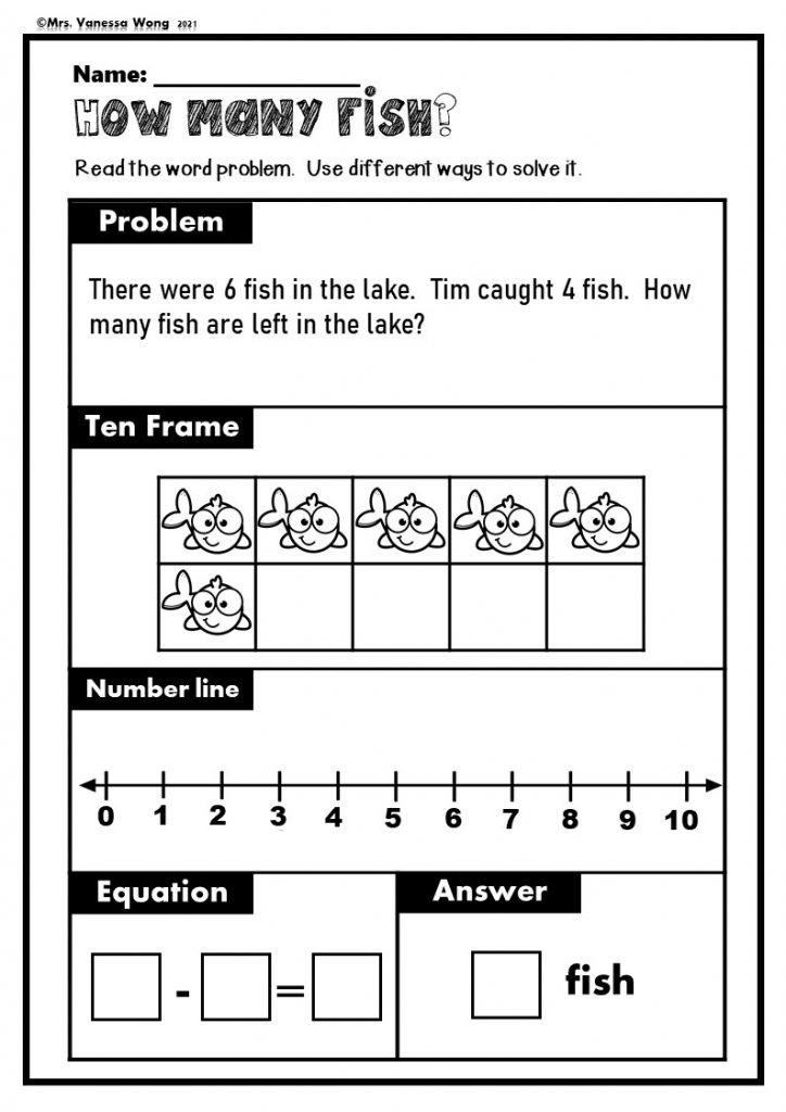 Kindergarten math subtraction