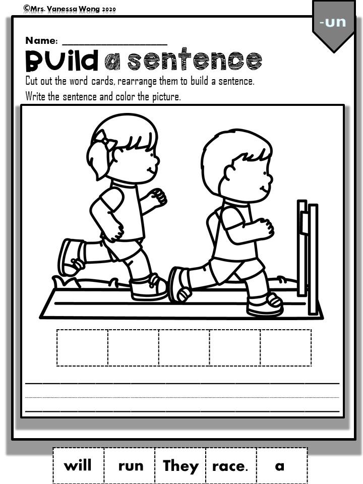 Phonics Short Vowel Short U worksheets