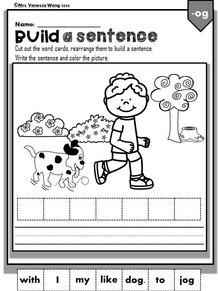 Phonics short vowel short o worksheets