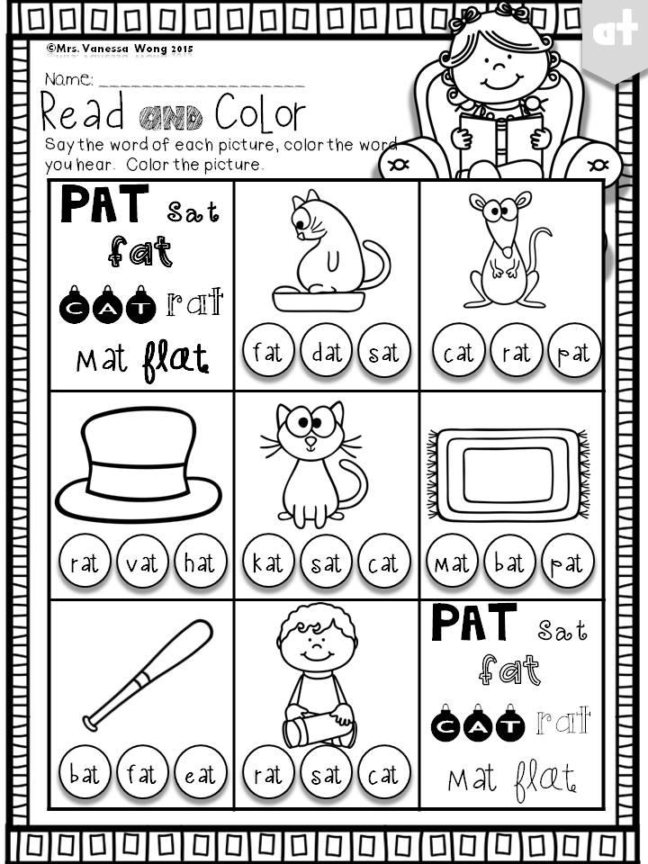 Phonics Short vowel worksheets