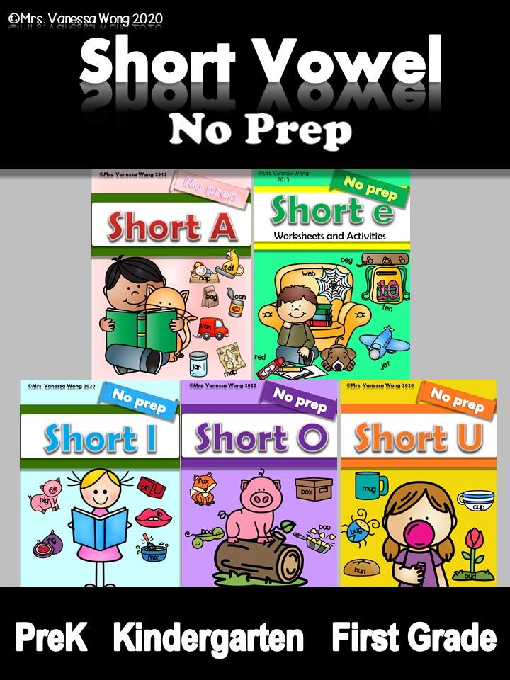 phonics short vowel worksheet